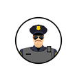 Police avatar Cop in uniform Head policeman vector image