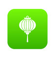 red chinese lantern icon digital green vector image vector image