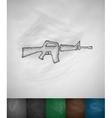 rifle icon vector image vector image