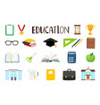 school cartoon items vector image