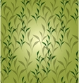 Seamless background with green leaves EPS vector image vector image
