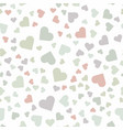 seamless pattern with multi-colored hearts vector image vector image