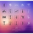 Set of orthopedics icons vector image vector image