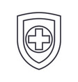 shield safequard line icon sign vector image
