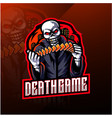 skull gaming esport mascot logo vector image vector image