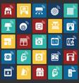 smart home set on color squares background for vector image