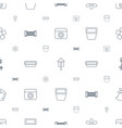 spring icons pattern seamless white background vector image vector image