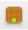 Square icon of tennis sport vector image vector image