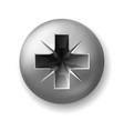 steel screw for crosshead screwdriver top view vector image