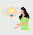 thinking idea or solution concept with fast vector image