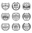 vintage monochrome advertising labels set vector image