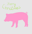 year of the pig new year vector image vector image