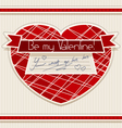 Valentine card vector image