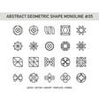 abstract geometric shape monoline 05 vector image