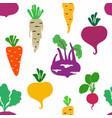 abstract vegetables seamless pattern vector image