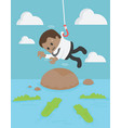 american businessmen are used as bait vector image vector image