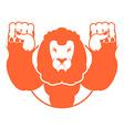 angry lion aggressive wild beast logo big leo evil