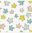autumn seamless pattern with hand drawn maple vector image vector image