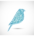 Beautiful flat silhouette of the bird vector image vector image