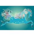 Beautiful jumping horse vector image