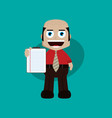 businessman manager at work holding report book vector image vector image