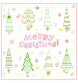 Christmas background with fir trees vector image vector image