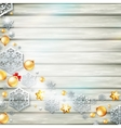Christmas template with paper cutout EPS 10 vector image vector image