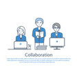 collaboration people at work poster text vector image vector image