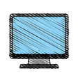 color crayon stripe cartoon front view computer vector image vector image