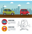 colorful ehicles infographic vector image
