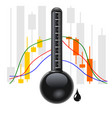 crude oil chart vector image
