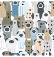 cute dog cartoon pattern vector image vector image