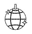 disco ball lights vector image vector image