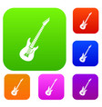 electric guitar set collection vector image vector image