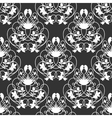 Elegant damask dark seamless background vector image vector image