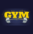 emblem for fitness club in grunge style with vector image