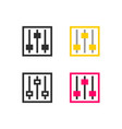 equalizer settings icon vector image vector image