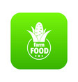 farm food icon green vector image