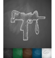 fire weapon icon vector image vector image