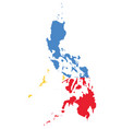 flag map philippines vector image vector image