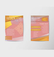 Flyer thai design template Brochure in A4 size vector image vector image