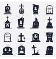 Grave icons set vector image vector image