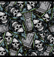 halloween vintage elements seamless pattern vector image vector image