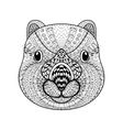Hand drawn tribal Wombat face animal totem for vector image