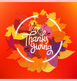 happy thanksgiving concept circle frame vector image vector image
