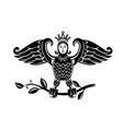 harpy perch on branch retro vector image vector image