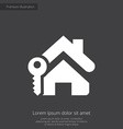 home key premium icon white on dark background vector image