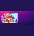 house renovation concept banner header vector image