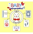info graphics on the theme the child to 1 year vector image vector image