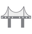 isolated bridge structure vector image vector image